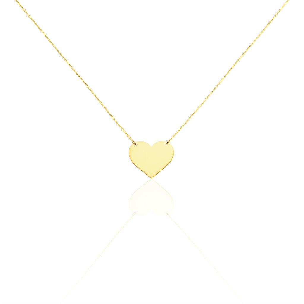Collier Coeur Gravable Or Jaune - Colliers Coeur Femme   Histoire d'Or