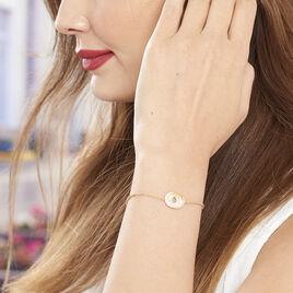 Bracelet Caitriona Plaque Or Jaune Oxyde De Zirconium - Bracelets fantaisie Femme | Histoire d'Or
