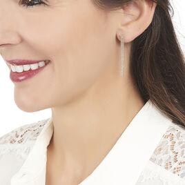 Boucles D'oreilles Pendantes Capucine Argent Rose - Boucles d'oreilles fantaisie Femme | Histoire d'Or