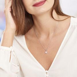 Collier Pietra Argent Blanc Oxyde De Zirconium - Colliers fantaisie Femme   Histoire d'Or