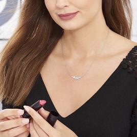 Collier Cesarine Argent Blanc Oxyde De Zirconium - Colliers Plume Femme | Histoire d'Or