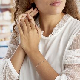 Bracelet Astria Argent Blanc - Bijoux Etoile Femme   Histoire d'Or
