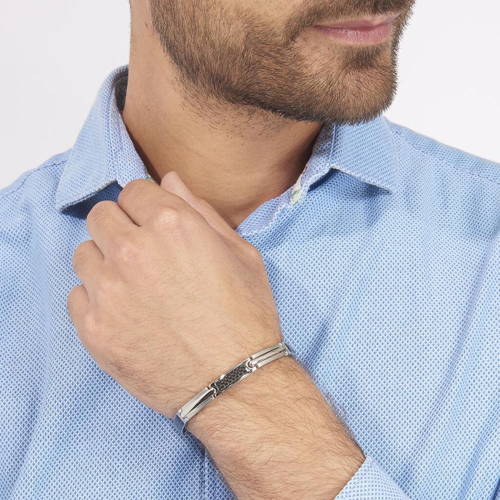 Bracelet Street Acier Blanc - Bracelets fantaisie Homme | Histoire d'Or