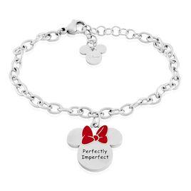 Bracelet Disney Acier Blanc - Bracelets fantaisie Femme | Histoire d'Or