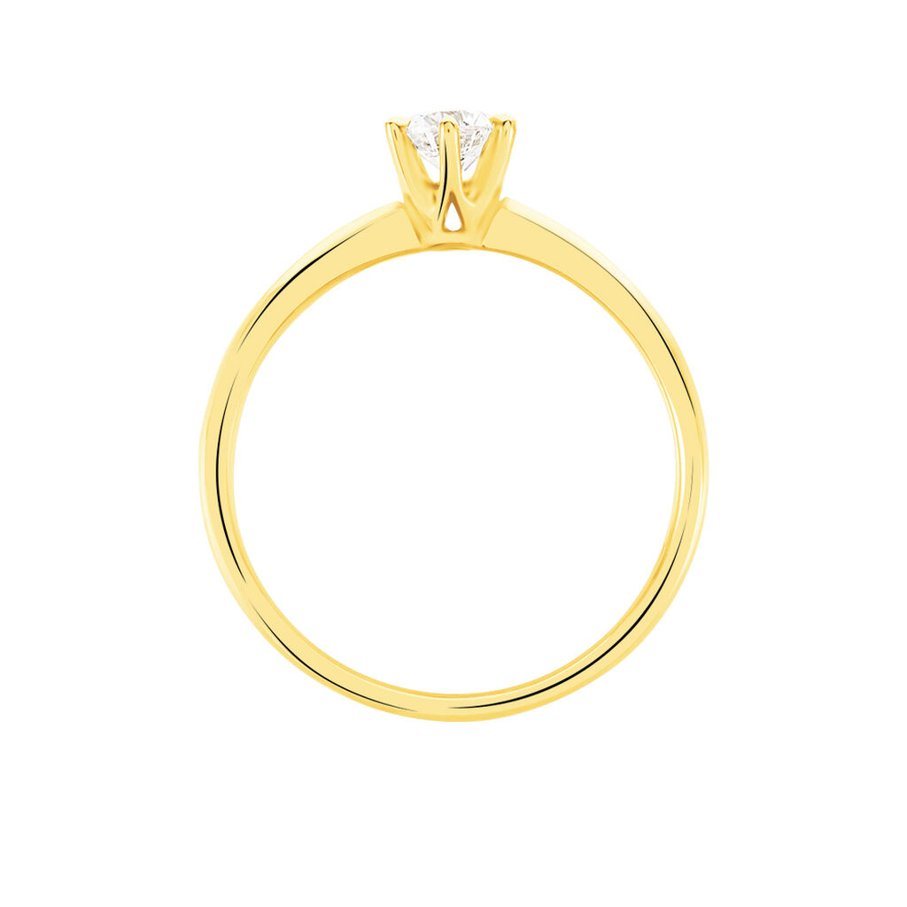 Bague Solitaire Niva Or Jaune Diamant