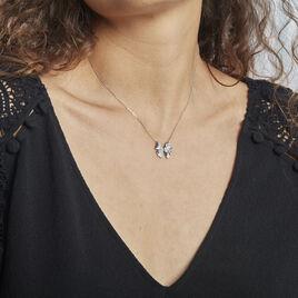 Collier Carmelo Argent Rhodié Oxyde - Colliers Papillon Femme | Histoire d'Or