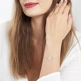 Bracelet Argent Bicolore Rhodie Croix - Bracelets Croix Femme | Histoire d'Or