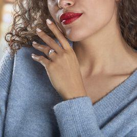 Bague Giana Or Blanc Oxyde De Zirconium - Bagues solitaires Femme   Histoire d'Or