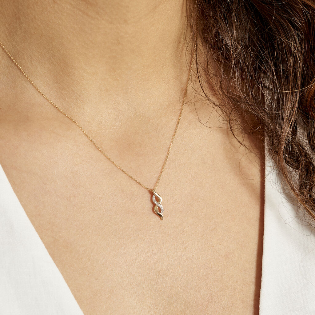 Collier Ilarione Or Jaune Diamant - Colliers Infini Femme | Histoire d'Or
