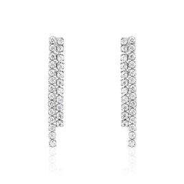 Boucles D'oreilles Pendantes Louann Argent Blanc Oxyde De Zirconium - Boucles d'oreilles fantaisie Femme | Histoire d'Or