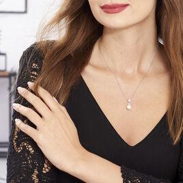 Collier Noame Argent Blanc Perle De Culture Et Oxyde De Zirconium - Colliers fantaisie Femme | Histoire d'Or