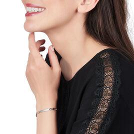 Bracelet Identité Orelineae Maille Alternee 1/2 Argent Blanc - Bracelets fantaisie Femme | Histoire d'Or