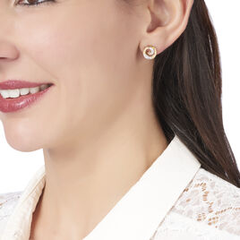 Boucles D'oreilles Puces Chaya Plaque Or Jaune Oxyde De Zirconium - Boucles d'oreilles fantaisie Femme | Histoire d'Or