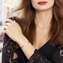 Bracelet Barrette Gravable Or Rose - Bracelets cordon Femme | Histoire d'Or