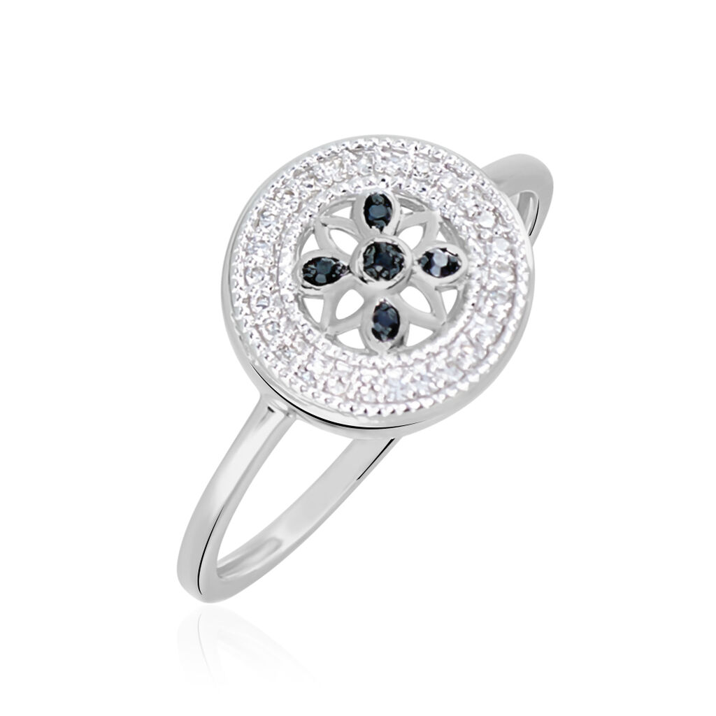 Bague Elfidiane Or Blanc Diamant