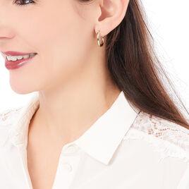 Creoles Plaque Or  - Boucles d'oreilles créoles Femme | Histoire d'Or