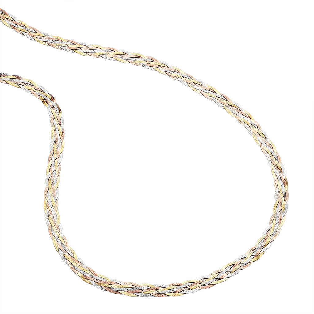 Collier 6 Fils Or Tricolore - Sautoirs Femme | Histoire d'Or