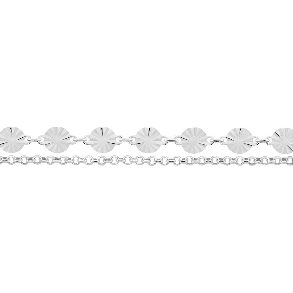 Chaîne De Cheville Savinka Argent Blanc - Chaînes de cheville Femme | Histoire d'Or