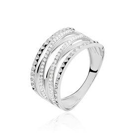 Bague Rock Or Blanc Diamant - Bagues avec pierre Femme | Histoire d'Or