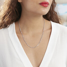 Collier Adelaide Argent Blanc - Colliers fantaisie Femme | Histoire d'Or