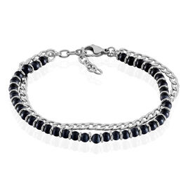 Bracelet Magalos Acier Blanc Onyx - Bracelets fantaisie Homme | Histoire d'Or