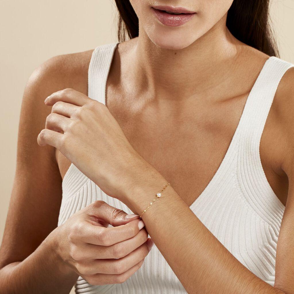 Bracelet Paolina Or Jaune Perle De Culture - Bijoux Femme   Histoire d'Or