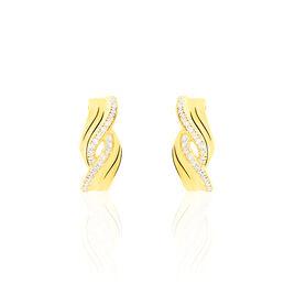 Boucles D'oreilles Puces Ceylian Or Jaune Diamant - Clous d'oreilles Femme | Histoire d'Or