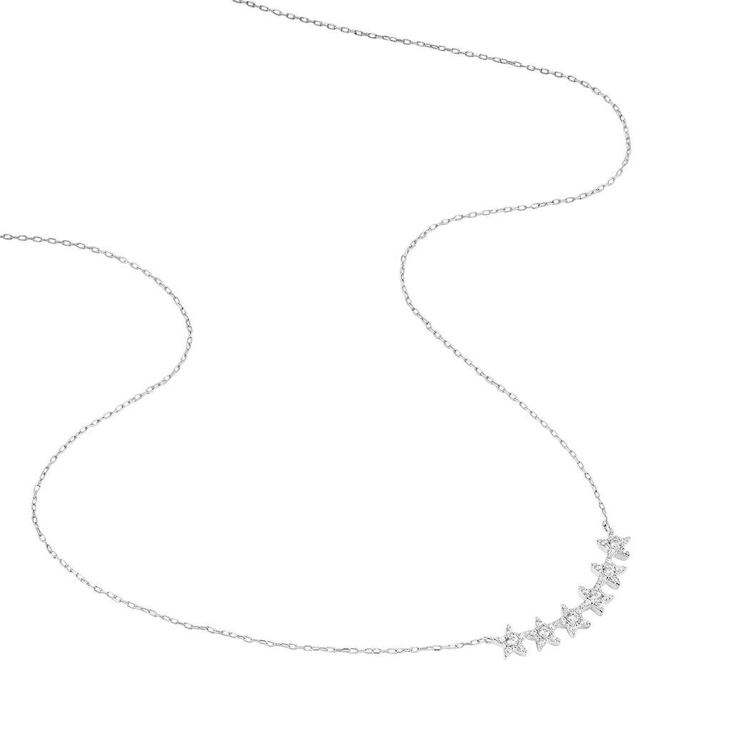 Collier Soeli Or Blanc Oxyde De Zirconium - Colliers Etoile Femme | Histoire d'Or