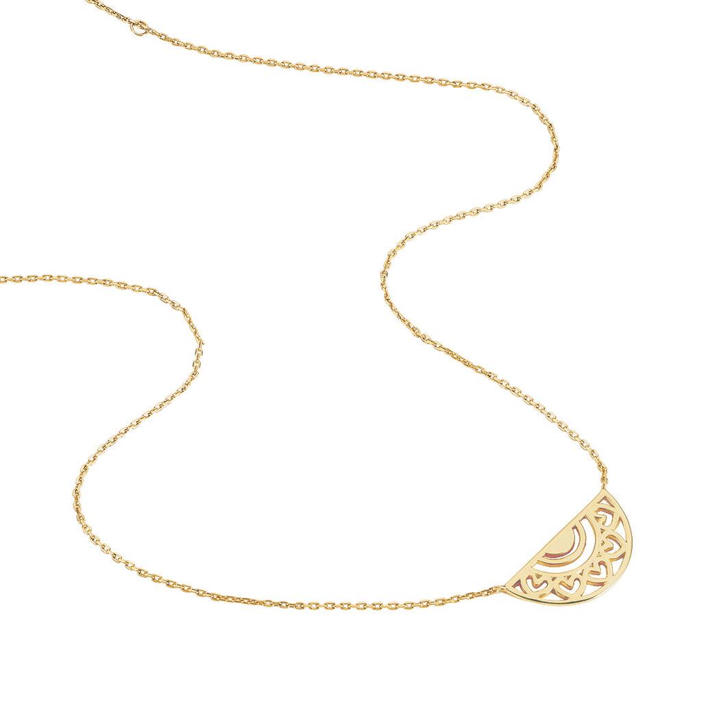 Collier Thaissia Plaque Or Jaune - Colliers Coeur Femme   Histoire d'Or