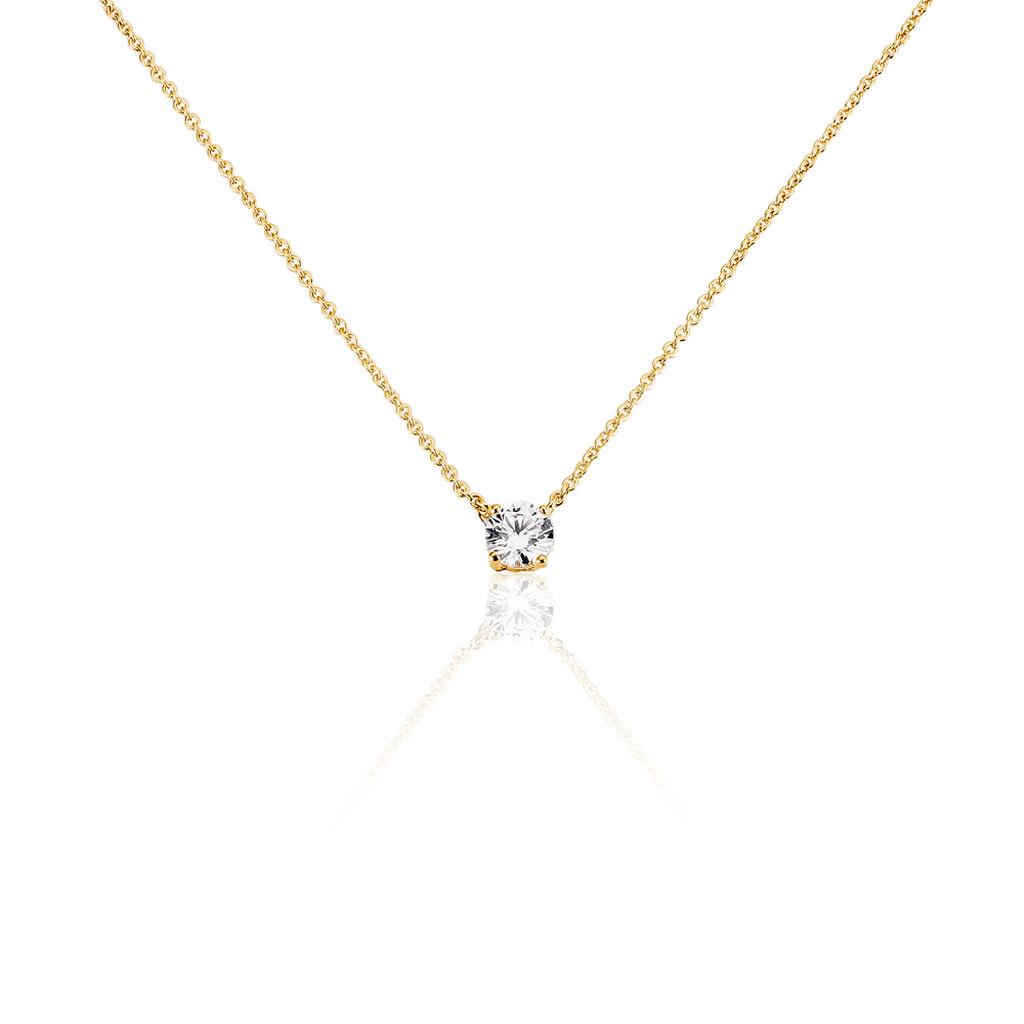 Collier Nilay Plaque Or Jaune Oxyde De Zirconium - Colliers fantaisie Femme | Histoire d'Or