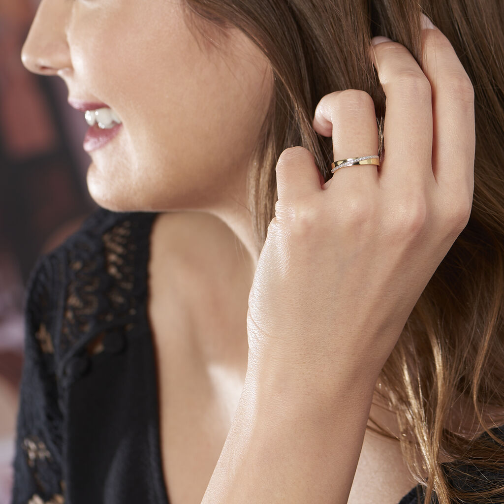 Bague Timira Or Jaune Diamant - Bagues avec pierre Femme   Histoire d'Or