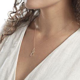 Pendentif Breval Or Jaune Oxydes De Zirconium - Pendentifs Infini Femme   Histoire d'Or