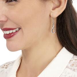 Boucles D'oreilles Pendantes Ayhan Argent Blanc Oxyde De Zirconium - Boucles d'oreilles fantaisie Femme | Histoire d'Or