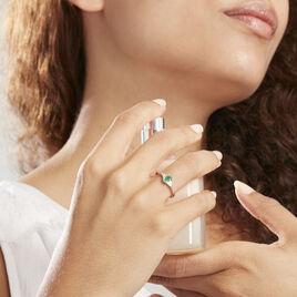 Bague Solitaire Ludmilla Or Jaune Emeraude Et Diamant - Bagues solitaires Femme | Histoire d'Or