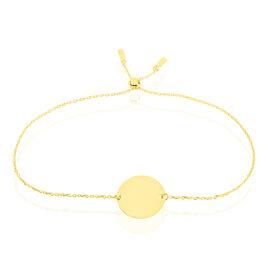 Bracelet Helenia Pastille Gravable Or Jaune - Bracelets Naissance Enfant   Histoire d'Or