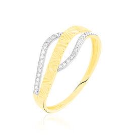 Bague Bathilde Or Jaune Diamant - Bagues avec pierre Femme | Histoire d'Or