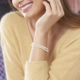 Bracelet 2 Rangs Or Jaune Perle De Culture - Bijoux Femme | Histoire d'Or
