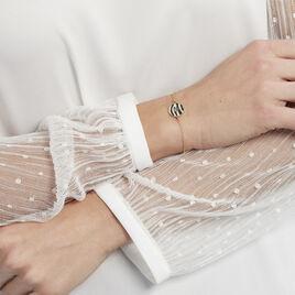 Bracelet Zengo Argent Jaune Nacre - Bracelets fantaisie Femme | Histoire d'Or