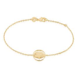 Bracelet Plamira Plaque Or Jaune - Bracelets Plume Femme | Histoire d'Or