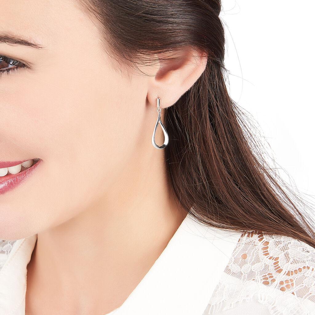 Boucles D'oreilles Pendantes Sila Argent Blanc - Boucles d'oreilles fantaisie Femme   Histoire d'Or