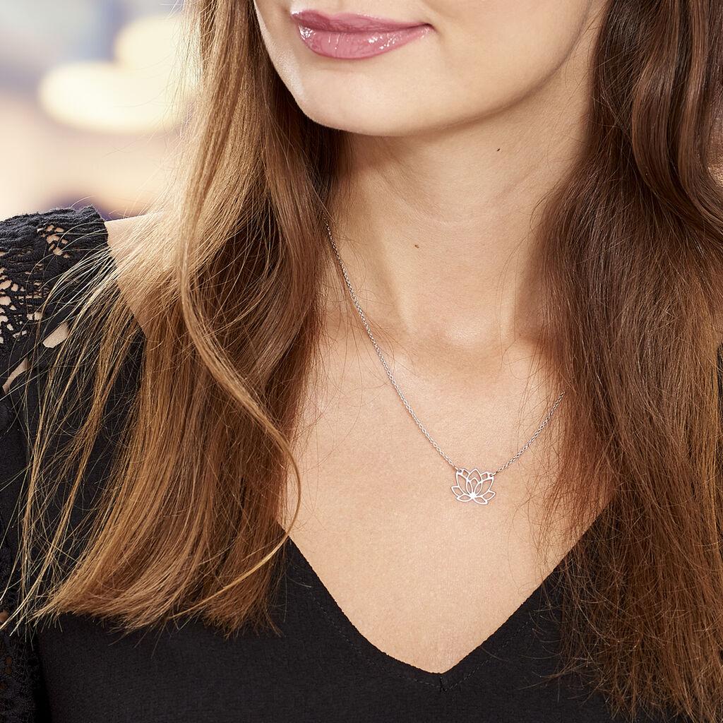Collier Maylie Argent Blanc - Colliers fantaisie Femme | Histoire d'Or