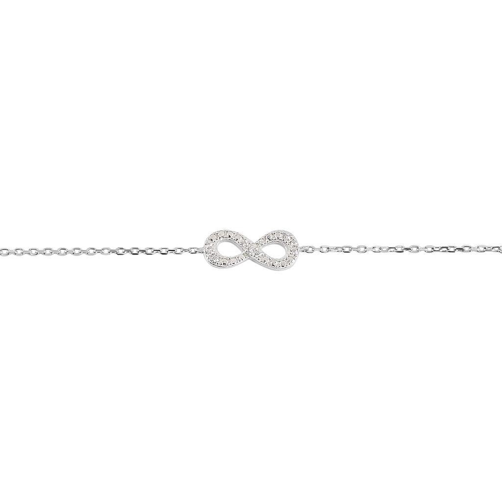 Bracelet Stanna Argent Blanc Oxyde De Zirconium - Bracelets Coeur Femme | Histoire d'Or
