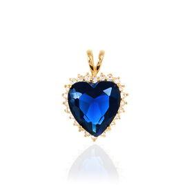 Pendentif Nelsa Plaque Or Jaune Oxyde De Zirconium - Pendentifs Coeur Femme | Histoire d'Or