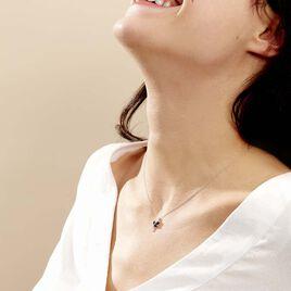 Collier Maura Or Blanc Saphir Diamant - Bijoux Femme | Histoire d'Or