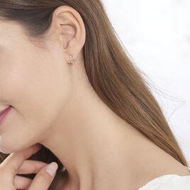 Boucles D'oreilles Puces Antonia Or Rose Morganite Et Diamant - Clous d'oreilles Femme | Histoire d'Or