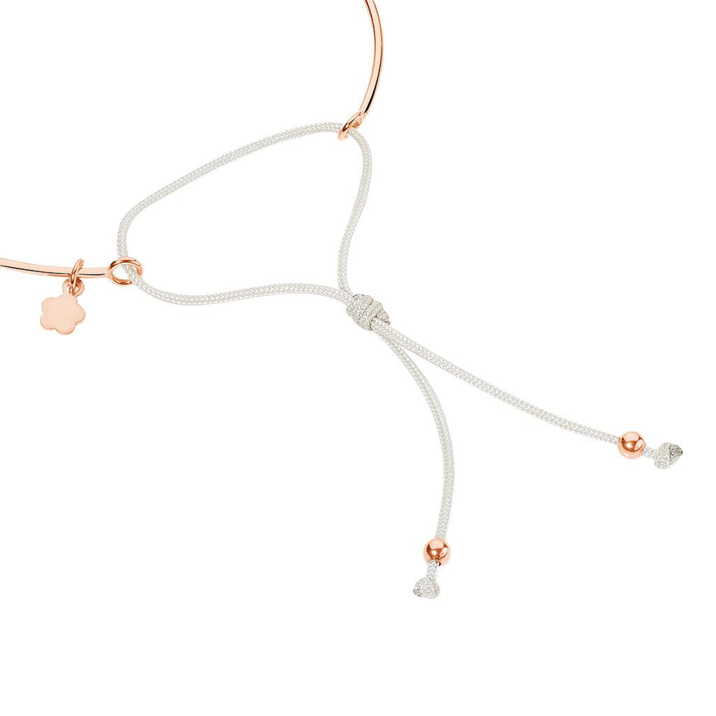 Bracelet Jonc Ravenna Argent Rose Oxyde De Zirconium - Bracelets Coeur Femme | Histoire d'Or