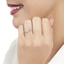 Bague Albane Or Blanc Diamant - Bagues solitaires Femme | Histoire d'Or