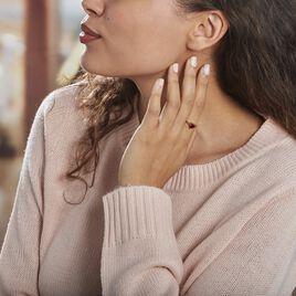 Bague Solitaire Argent Rose Heracles Oxydes De Zirconium - Bagues solitaires Femme | Histoire d'Or