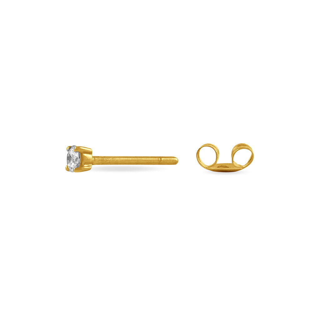Boucles D'oreilles Puces Clavie Or Jaune Diamant - Clous d'oreilles Femme | Histoire d'Or