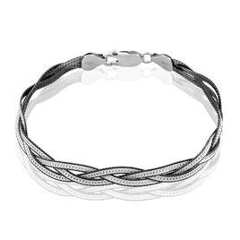 Bracelet Elae Maille Tresse Argent Blanc - Bracelets chaîne Femme | Histoire d'Or